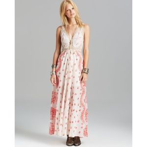 NWT Free People Natural Maxi Dress Victorian Love